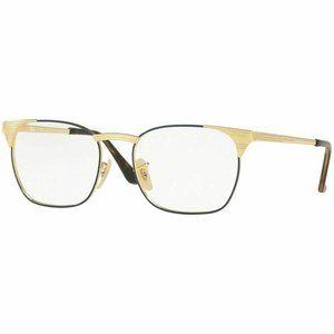 Ray-Ban Square Eyeglasses Gold Blue W/Demo Lens